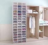 Hwalla Schuhkartons Durchsichtiger Kunststoff stapelbar, Schuhkartongrößen-Vorratsbehälter mit Deckel (Grün, 6 Pack) Vergleich
