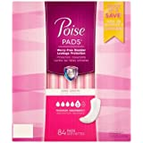 Poise Incontinence Pads, Maximum Absorbency, Long, 84 Count