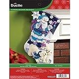 Bucilla 45,7cm Chaussette de Noël en Feutre Applique kit, 86653Arctic Santa