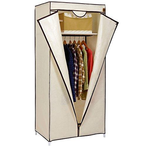vonhaus-single-canvas-effect-wardrobe-clothes-cupboard-hanging-rail-storage-with-shelf-beige-w75-x-d