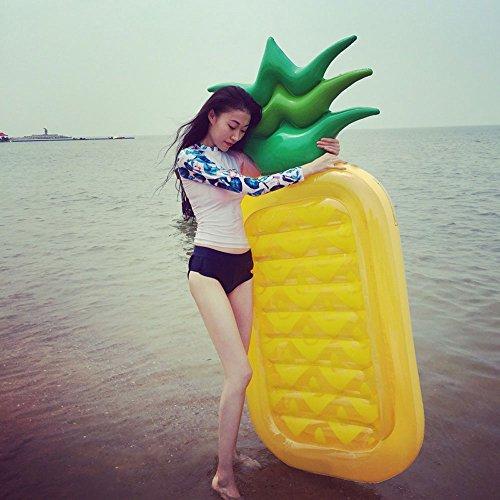 Preisvergleich Produktbild Aufblasbare Ananas-sich hin- und herbewegende Entwässerung 190Cm * 79cm sich hin- und herbewegende erwachsene Unterhaltungs-Spielwaren