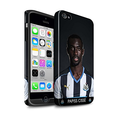 Offiziell Newcastle United FC Hülle / Glanz Harten Stoßfest Case für Apple iPhone 4/4S / Pack 25pcs Muster / NUFC Fussballspieler 15/16 Kollektion Cissé