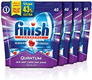 Finish Dishwasher Detergent Tablets, Quantum Max, 160 tabs (Pack of 4)