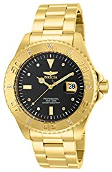 Invicta Pro Diver Men's Analogue Classic Quartz Watch With Stainless Steel Gold Plated Bracelet – 15286