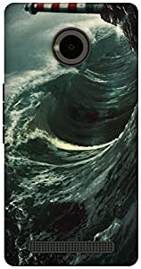 The Racoon Lean Night Waves hard plastic printed back case / cover for Yu Yuphoria