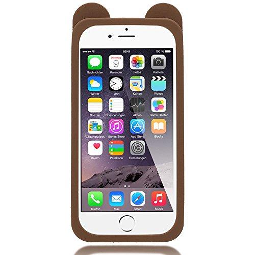 iPhone 6 6S 3D Coque Silicone de NICA, Ultra-Fine Housse Protection Cartoon Cover Slim Etui, Mince Telephone Portable Gel Case Bumper Souple pour Apple iPhone 6S 6 Smart-Phone, Designs:Unicorn Dog