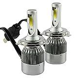 CICMOD H4 Faros Delanteros LED Bombillas Incandescentes H4 72 W Hi/Lo Lámpara 7600lm 9003 HB2 12V para Halógeno y 6500K Xenon Blanco