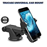 #10: Trucase Quick Touch Mobile Holder Adjustable Car Windshield/Dashboard/Working Desk Mount for Phones upto 2.5 - 3.2 inches, LATEST RELEASE (Black)