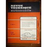Revue Technique FIAT 124 Sport Coupé - Spider RTA0274 - Février 1969
