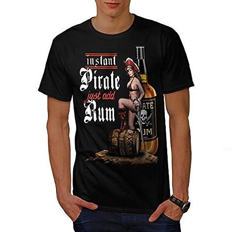 Instant Pirate Ajouter Rhum Whisky Homme Noir S T-shirt | Wellcoda