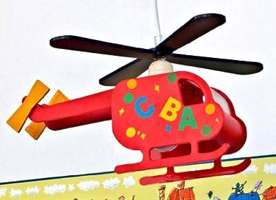 Helikopter Flugzeug Lampe Leuchte Kinderlampe Kinderzimmerlampe Deckenleuchte Hängelampe