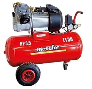 Mecafer 425136 Compresseur 50 L 3,5 hp Coaxial V