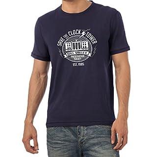 NERDO Save The Clock Tower - Herren T-Shirt, Größe XL, Navy
