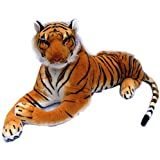 [Sponsored]Marchie's Latest Imported Stuffed Soft Tiger Toy As Animal Toys Playable Soft Toy For Kids (50 CM)