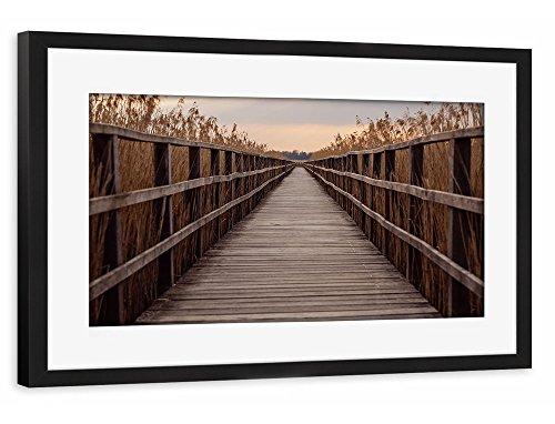 artboxone-poster-mit-rahmen-60x40-cm-natur-leading-lines-braun-gerahmtes-poster-schwarz-wandbild-nat