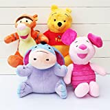 #8: Funtoy Pooh Family Winnie The Pooh and Friends- Pooh, Tiger,Eeyore and Piglet Soft Toys for Kids Set of 4 100% Quality Assurance