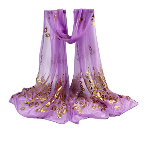 YWLINK Zartes Damen Retro Einfarbig Elegant Pfau Weiche UmschlagtüCher Frauen Langer Wraps Schals KostüM Accessoires - Super Coole Selbstgemachte Kostüm
