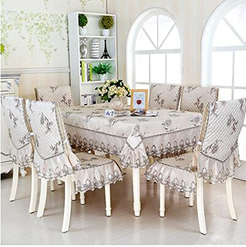 Haut de gamme tissu de table, linge de table, linge de table, revšºtements d'ameublement costume Continental table š€ manger,150*200CM