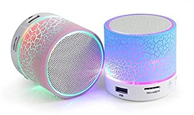 Roboster Rechargeable Wireless Bluetooth Speaker With Led