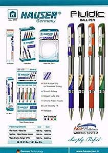 Hauser Fluidic Blue Ball Pen Pack of - 40