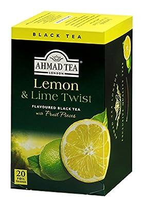 Thé noir au citron- Ahmad tea London - Boite de 20 sachets