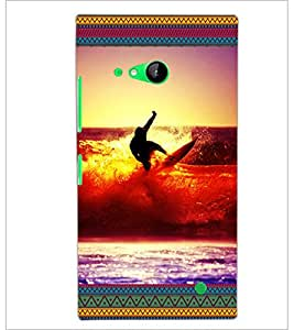 PrintDhaba Diving D-5699 Back Case Cover for NOKIA LUMIA 730 (Multi-Coloured)