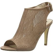 La Strada Nude Suede Leather Look Sandal - Sandalias Mujer