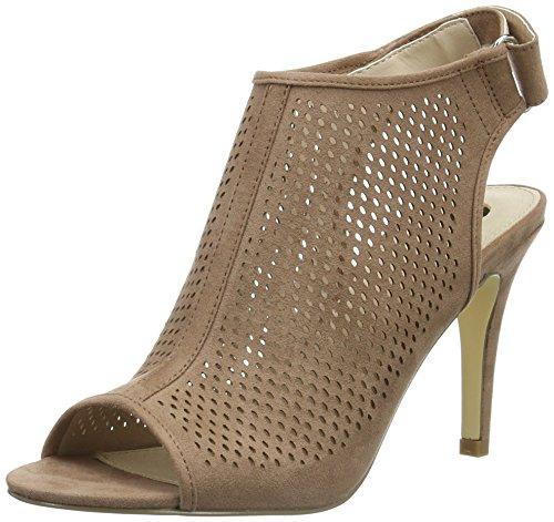 La Strada Nude Suede Leather Look Sandal, Sandales Ouvertes Femme Beige - Beige (2235 - micro nude)