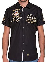 Redbridge by Cipo & Baxx Herren Hemd Freizeithemd Golf Club Regular Fit mit Stickerei