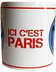 Mug PSG - Ici c'est Paris - Collection officielle Paris Saint Germain [Divers]