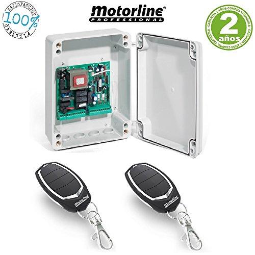 Kit-Central-electronica-maniobras-puerta-parking-garaje-batiente-de-1-o-2-hojas-con-paro-suave-y-receptor-incorporado-y-2-mandos-a-distancia-incopiables-Motorline-Falk