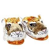 Sleeper'z – Tigre – Zapatillas de casa animales originales y divertidas – Adultos y Niños - Hombre y Mujer – XL