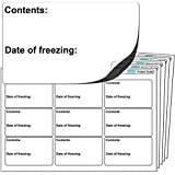 """144x Large (64x38mm) FREEZER GRADE Self Adhesive Stickers. """"Contents: Date of freezing:"""" Free First Class UK Delivery."""