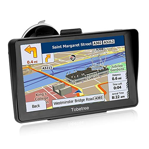 Tobetree DH798 - GPS Coches, 7 Pulgadas Parasol Navegador GPS para Coche, con Bluetooth, Gratis Mapa de Europa Toda la Vida, Recordatorio Voz Inteligente