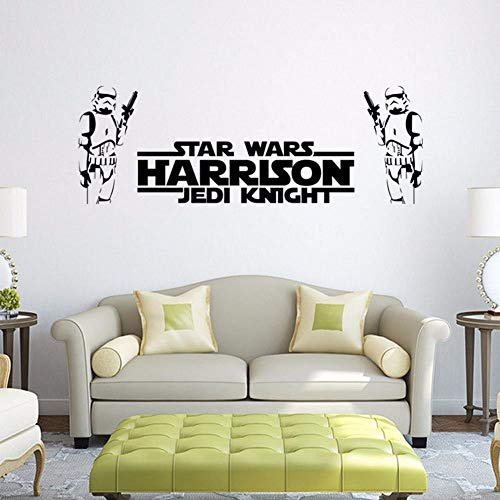 Wandtattoo Schlafzimmer Star Wars Harrison Jedi Ritter Vinyl Wall Decal Krieg der Sterne Charakter Wandaufkleber Beliebte Wandkunst für Kinderzimmer Kind Schlafzimmer