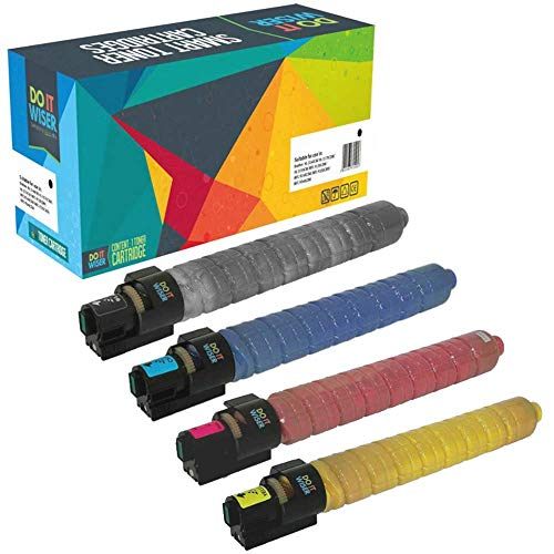 4 Do it wiser Kompatibel Toner Ricoh Aficio MP C2050 C2051 C2551 C2030 C2530 C2550 (Schwarz 10000 - Farben 5500 Seiten) (Ricoh Mp Aficio C2551)