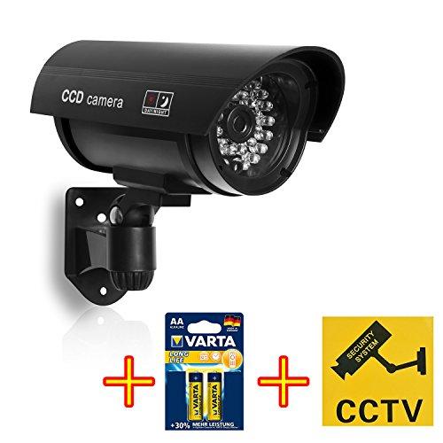 Preisvergleich Produktbild HiKam F3 Profi Überwachungskamera -Attrappe, inkl. Varta Longlife AA und Warnschild-Aufkleber