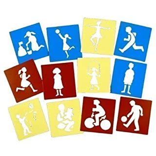 Giant People Stencils (Set of 12) by Anthony Peters