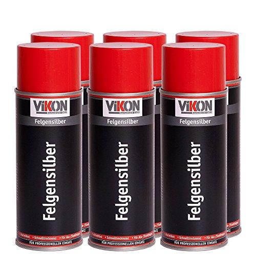 felgenspray silber 6 Dosen VIKON Felgen-Silber-Spray 400 ml (Felgensilber)