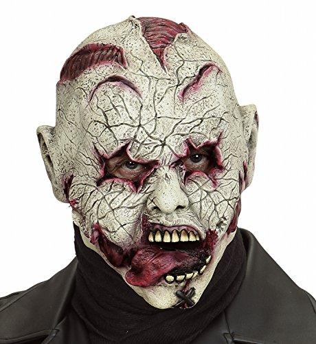 Widmann 00846 - Latexmaske Blutende Zunge - Für Erwachsene Psycho Clown Kostüm