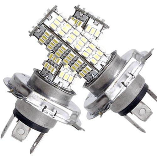 SODIAL(R) 2 Voiture vehicule AUTO H4 120 SMD LED Lumiere Ampoule Lampe 12V