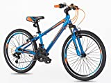 Mountain bike in lega per giovani/ragazzi dai 7-14 anni, da 61cm con ruote Shimano.