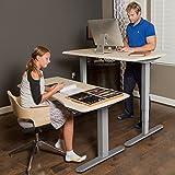 FLEXISPOT E5B Höhenverstellbarer Schreibtisch Elektrisch Höhenverstellbares Tischgestell, 3-Fach-Teleskop, Passt für Alle Gängigen Tischplatten. mit Memory-Steuerung und Softstart/-Stop - 7