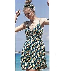 YSABEL MORA - Vestido PIÑAS Mujer Color: Marin Talla: S