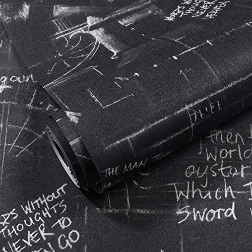 wallpaper Retro Schwarzweiss-Tapeten-Bekleidungsgeschäft-Schwarzweiss-Alphabet Internet-Caféfriseursalonbarschlafzimmerwohnzimmerhintergrundtapete -
