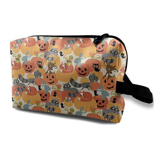 Kürbis-patch Wood_2940 Tragbare Reise Make-Up Kosmetiktaschen Organizer Multifunktions Fall Taschen für ()