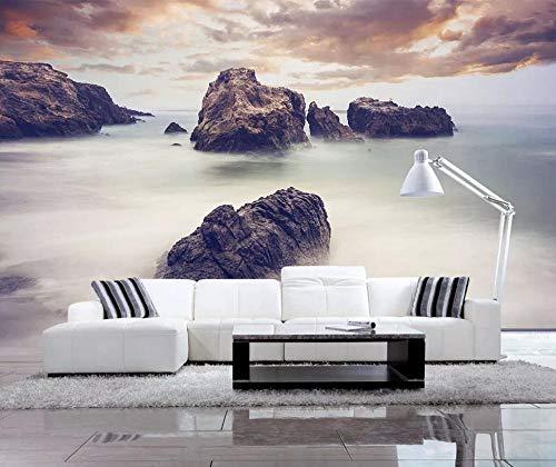 Benutzerdefinierte 3D Fototapete Wandbild Sea Rock Landschaft Wohnzimmer Schlafzimmer Dekoration Malerei 350x256cm -