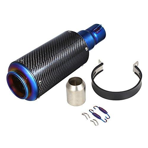 KKmoon 38–51mm Terminals Steckdose Schalldämpfer Auspuff Exhaust für Motorräder, Umbau des Auspuff Schalldämpfer für Motorrad ATV Universal