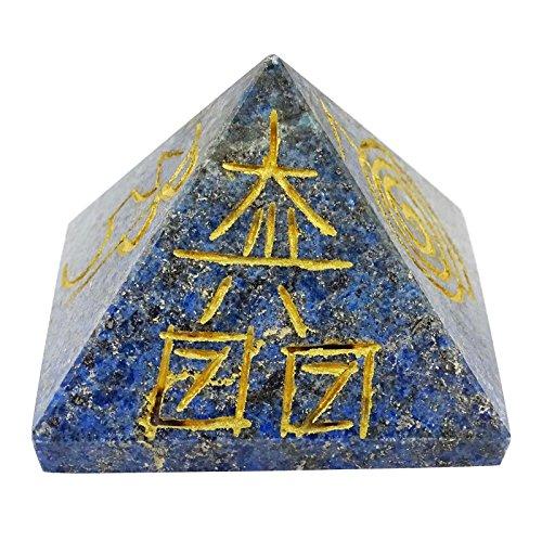 Generador de energía sagrada Símbolos de Reiki lapislázuli Pirámide Feng Shui espiritual