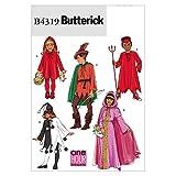 Butterick Patterns B4319 - Patrones para disfraces de niño y niña (todas las tallas), color blanco